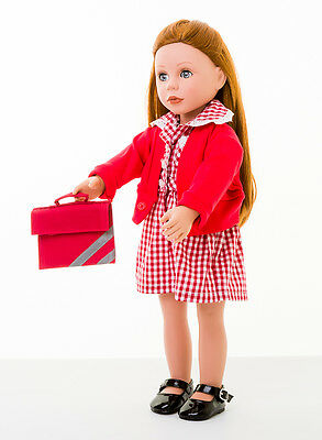Our Generation Doll Summer Uniform Set By Frilly Lily Dress/Cardy /Bookbag