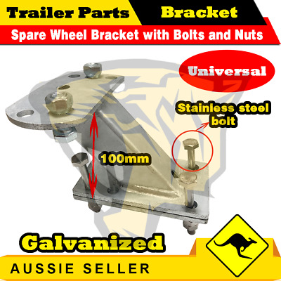 SPARE WHEEL BRACKET / CARRIER HOLDER - UNIVERSAL - Hot Dip GALVANIZED - Cage