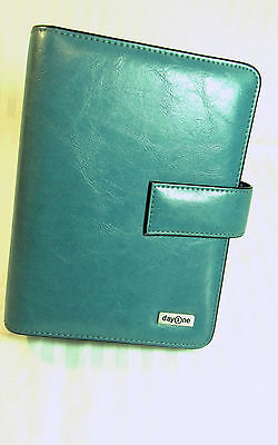 Day One Franklin Covey Compact Mag Snap Planner Organizer Med Blue Looks Unused