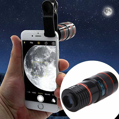12x Optical Zoom Clip-on Universal HD Telescope  Camera Lens  For Mobile Phone