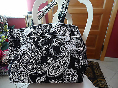 Vera Bradley Grand Tote in Midnight Paisley pattern NWT
