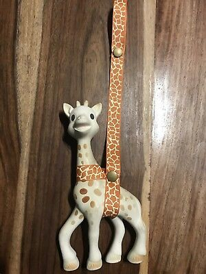 Baby Toy Or Sophie The Giraffe Harness Toy Saver Pink Hearts Cute Girl Ribbon