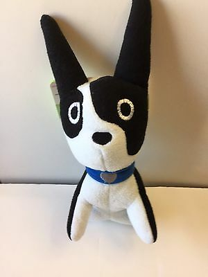 Boston Terrier With Blue Collar Stuffed