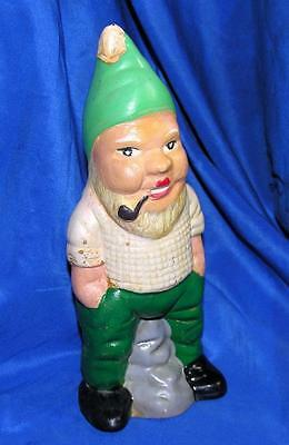 """1930's Vtg Antique Germany Garden Gnome, Made Composition, 8"""" Tall Grt For Xmas"""