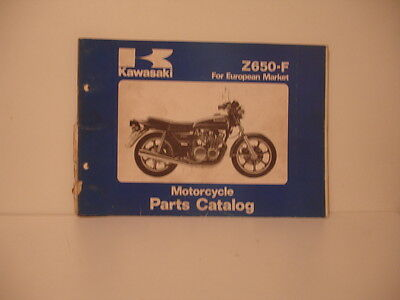 KAWASAKI Z 650 F  1979 parts list catalog catalogue pieces detachees