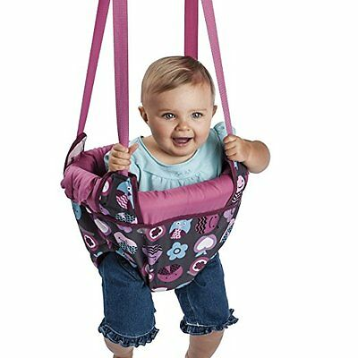 Evenflo ExerSaucer Baby Jumper, Baby Swing Pink Bumbly Jump Up Doorway Bouncer
