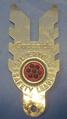 Goodrich Silvertown Safety League Bicycle or License plate attachment