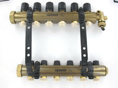 Uponor (Wirsbo) TruFLOW Jr. Manifold Assembly, B&I, 6-loop A2660601