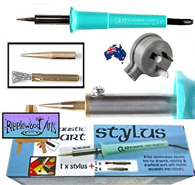 Encaustic Art - Painting Stylus - 3 Tips - Australian Plug 240v