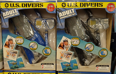 US Divers Adult Silicone Snorkel Set w/ Travel BaG NEW US Divers Adult Snorkel