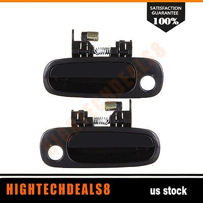 For 98-02 Corolla Door Handles 2Pcs Black Exterior Front Left&Right Side