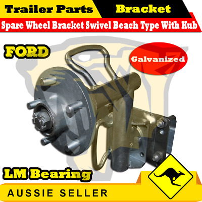 Spare Wheel Bracket Swivel Beach Type with Hub LM Bearings Rescue - Ford