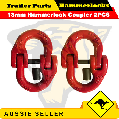 (2 Pack) 13mm Hammerlock Chain Connector Joiner Chain 4x4 Chain Link Coupler