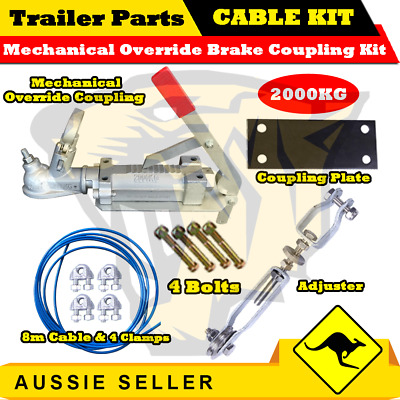 Superior Mechanical Override Brake Coupling Cable Kit - 2000kg - Trailers