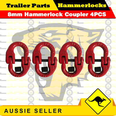 (4 Pack) 8mm Hammerlock Chain Connector Joiner Chain 4x4 Chain Link Coupler