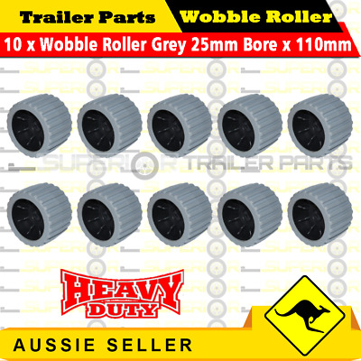 10x Wobble Roller Grey 22mm bore x 110mm