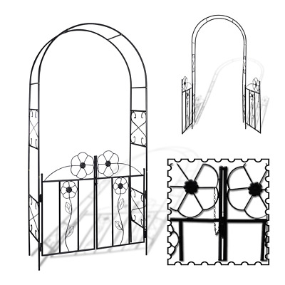 Pathway Garden Arch Metal Front/Backyard Decoration Walkway Plant Climbing Frame