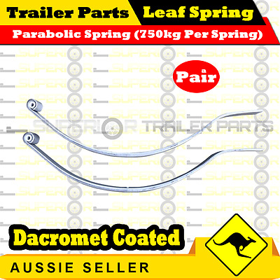 Superior Parabolic Trailer Springs (1500kg rated) Dacromet Coated x 1 pair
