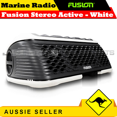 Fusion Stereo Active Portable Watersport Stereo - Bluetooth & USB Port - White