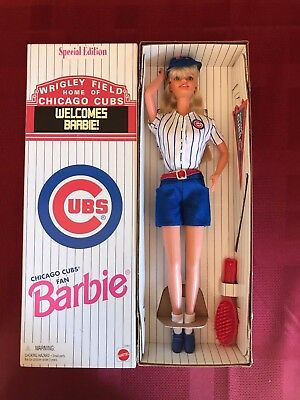 Chicago Cubs Special Edition Barbie Doll Rare Stadium Issued Doll