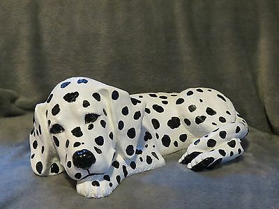 Dalmatian Puppy Basket / Bed Buddy Decorative Life Like Puppy Statue