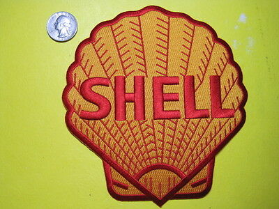 Shell Oil Uniform Cloth Patch 6 Inch Look And Buy!*