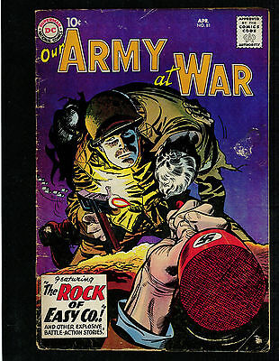 OUR ARMY AT WAR # 81 -- APR. 1959 -- DC -- 1st SGT ROCK  -- PROTOTYPE KEY ISSUE