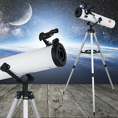 Reflector Telescope 700x76mm beginner with Tripod and Eyepieces Astronomical