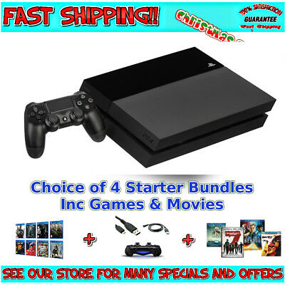 PS4 PLAYSTATION 4 500GB CONSOLE | Inc Accessories - Pick your Starter Bundle