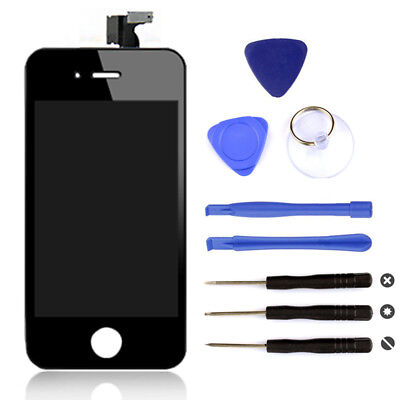 Black LCD Replacement Digitizer Display Screen Assembly Tools For iPhone 4s New