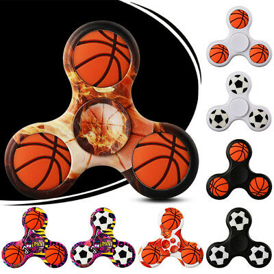 3D Basketball Football Tri Fidget Spinner EDC Hand Spinner Assembled Finger Toys