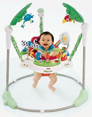 Fisher-Price Rainforest Jumperoo Boys or Girls Develop & Grow Easy Storage