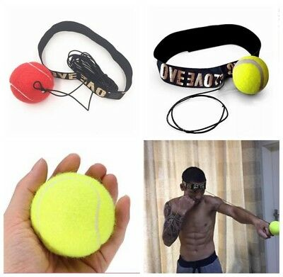 Training Boxing Fight Ball With Head Band For Reflex Speed Boxing Punch Exercise