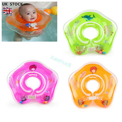 Newborn Swimming Neck Float Inflatable Ring Tube Adjustable Safety 1-18 Months