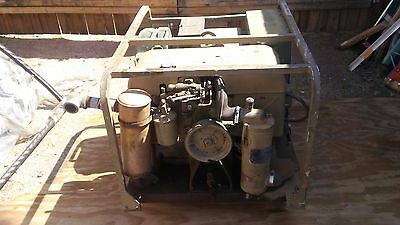 5 kw army / Military Gas Generater MEP-017A runs good and generates needs work