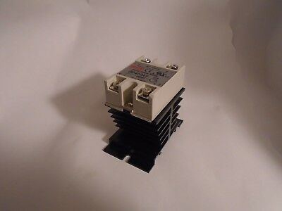 New Fotek Ssr-40 Da-H Solid State Relay With Heat Sink 90-480Vac, 3-32Vdc, 40A