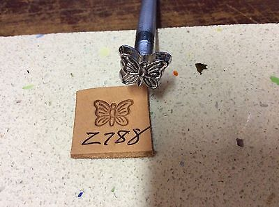 Leathercraft leatherwork leather Tandy craftool stamp butterfly Z788
