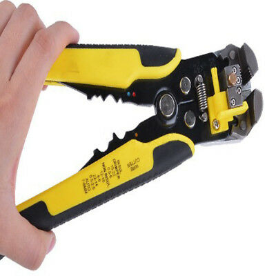 NEW Ultimate Self Adjusting Wire And Cable Stripper Cutter Pliers Hand Grip Tool