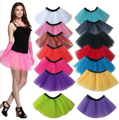 1980s Disco Neon TUTU Skirts Ladies Costume Hens Party Dance Wear