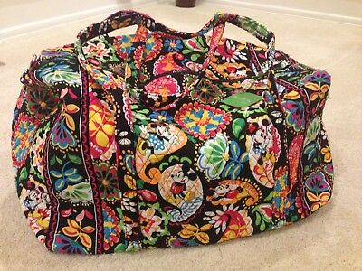 NWT Vera Bradley Large Duffel Bag in Disney Dreaming Mickey and Minnie Mouse M2