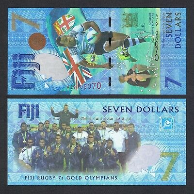 2017 FIJI 7 DOLLARS P-120* UNC > RUBY 7s GOLD MEDAL WIN COMM AZ REPLACEMENT