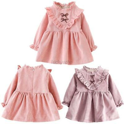 Baby Girls Kid Dress Long Sleeve Autumn Winter Princess Tutu Dress Clothes 6M-4Y