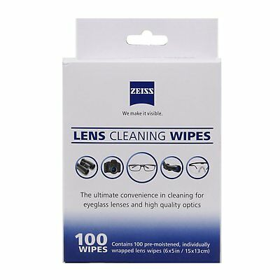 Zeiss 100 Pcs Moist Cleaning Wipes fr Camera Glass LCD Screen Optical Lens Phone
