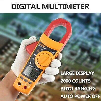 Auto-Ranging Digital Clamp Meters,1000A High Current, LCD KOBWA VC902 Ture-RMS