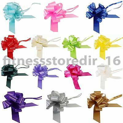 SATEEN LARGE 50mm PULL BOWS - WEDDING CAR BOW FLORIST RIBBON PEW GIFT DECORATION