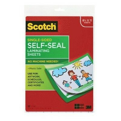 Scotch 9 x 12 Inches Laminating Sheets Letter Size Single Sided, 50 Pouches (SF8