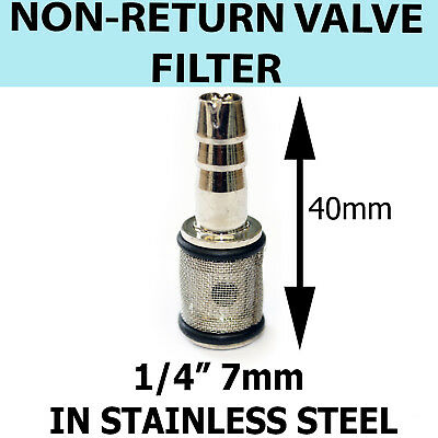 Detergent FILTER Strainer Stainless Steel - 7mm with NON RETURN VALVE