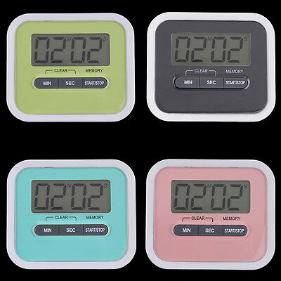 Large LCD Digital Kitchen Cooking Timer Count-Down Up Clock Loud Alarm~ZZ