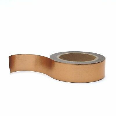 Washi Tape Rose Gold Copper Metallic Foil Solid Colour 15mm x 10m