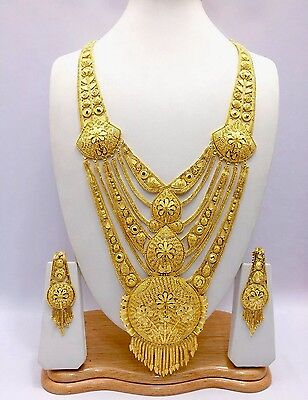 f48f851f4 Indian Asian Bridal Jewellery Ethnic Wear 22k Gold Plated Rani Haar  Necklace Set